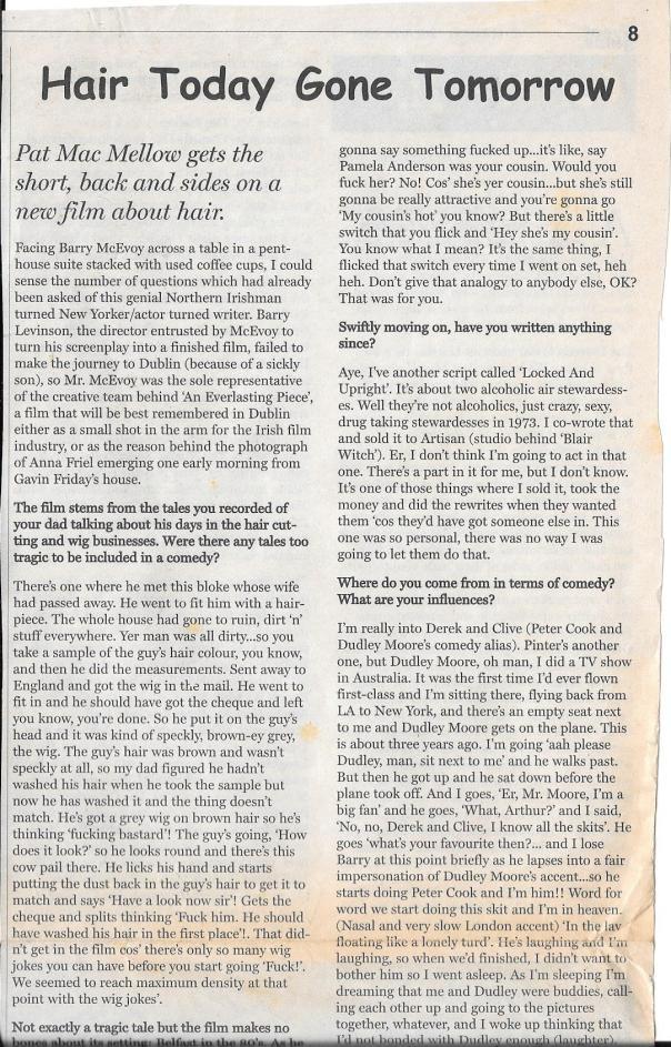 Barry McEvoy interview