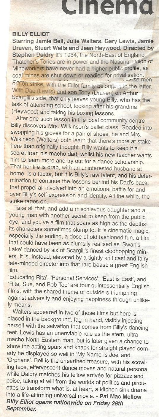 Billy Elliot review