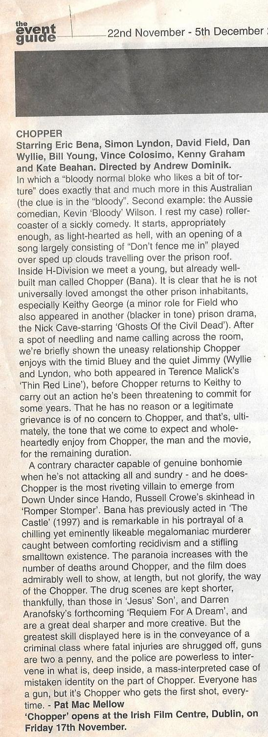 CHOPPER review