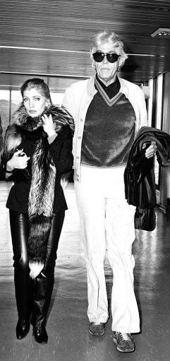 James Coburn and Lynsey de Paul.