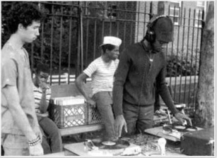 Founding father of breaks culture, DJ Kool Herc on the right