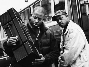 DJ Premier (Chris Martin), ghettoblaster and Guru (Keith Elam)