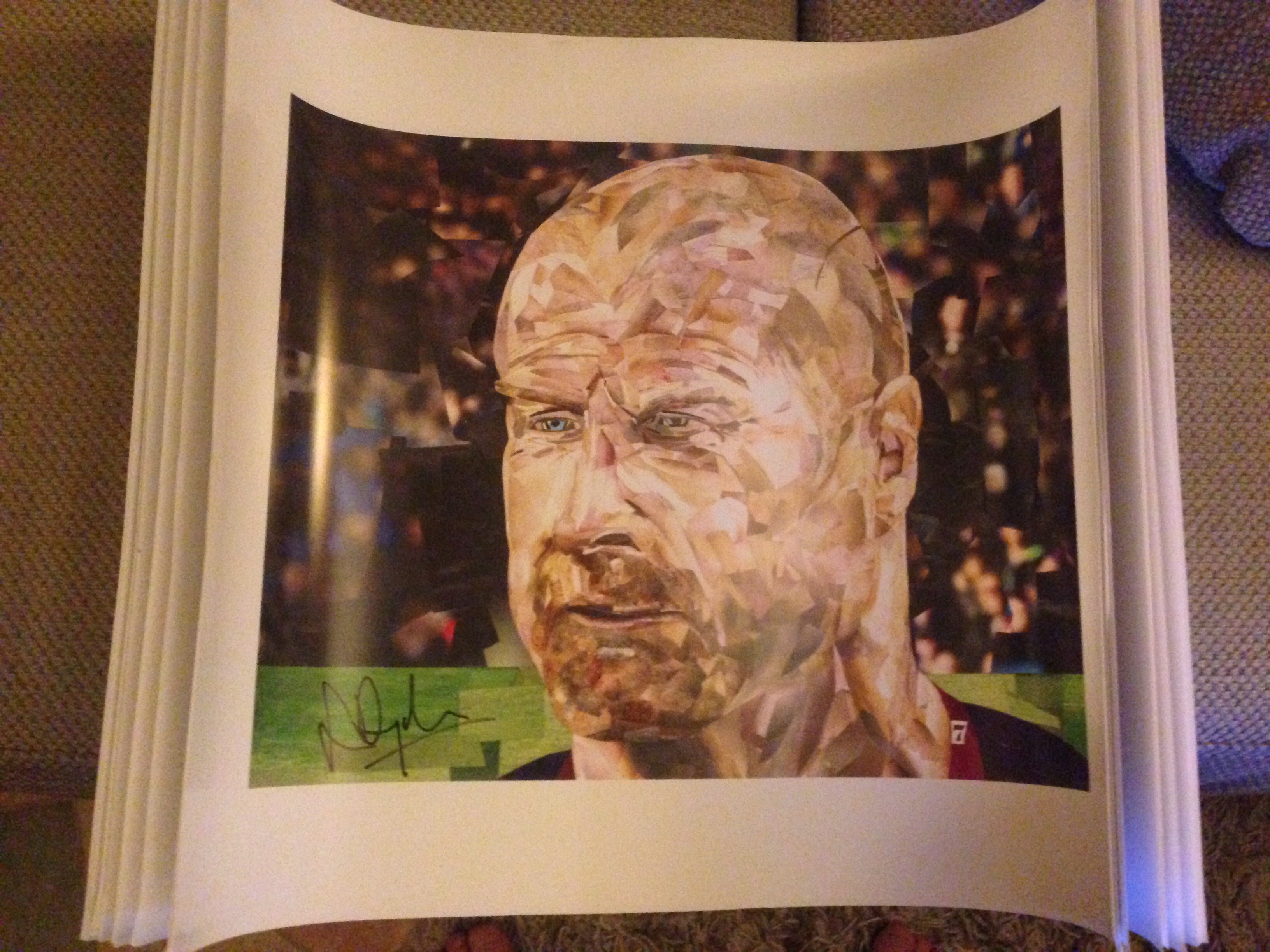Art: Buy a one-off Sean Dyche portrait and put some Claret in your Christmas