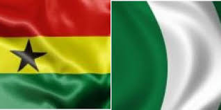 Ghana and Nigeria flags