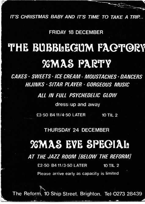 Bubblegum Factory flyer back